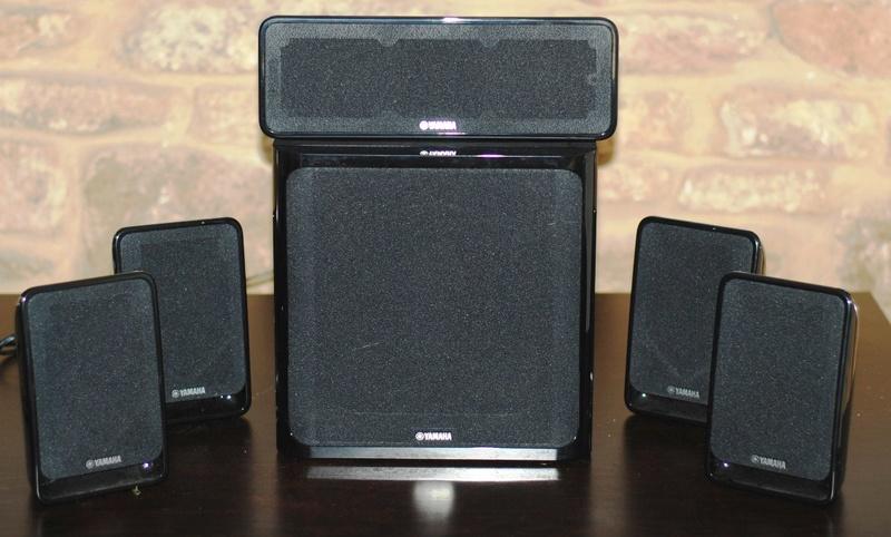 yamaha ns p20 satellite speakers active subwoofer. Black Bedroom Furniture Sets. Home Design Ideas