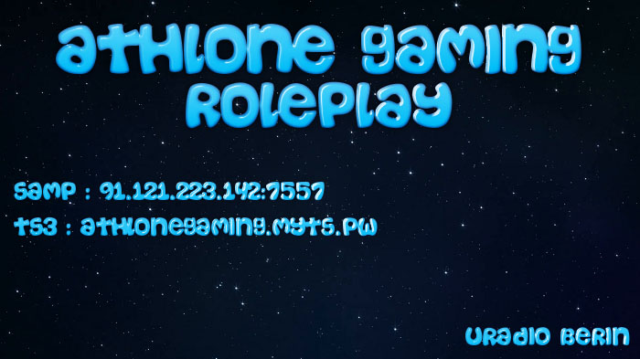 Athlone Gaming RolePlay Forum