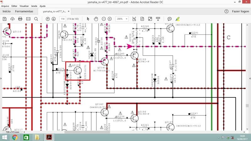 receiver yamaha rx v577 dc prt 000l protection problem page 1 rh eevblog com Motorcycle Wiring Diagram Yamaha ATV Wiring Diagram